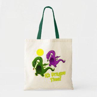 It's Dragon Time Budget Tote Bag