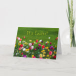 It's Easter Floral Holiday Card
