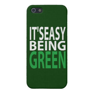 IT'S EASY BEING GREEN COVER FOR iPhone SE/5/5s