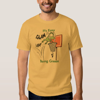 Its Easy Being Green Frog Basketball Shirt