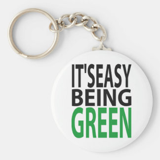 IT'S EASY BEING GREEN KEYCHAIN