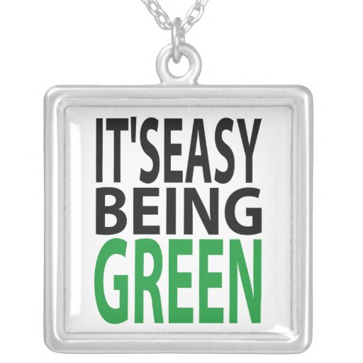 it's easy being green personalized necklace