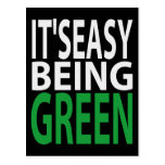 IT'S EASY BEING GREEN POSTCARDS