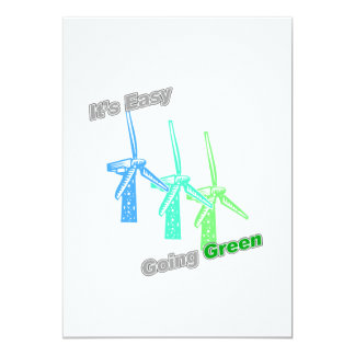 It's Easy Going Green 3 windmills Card