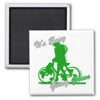 It's Easy Going Green Bicycle 2 Magnet