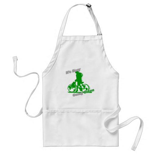 It's Easy Going Green Bicycle Adult Apron