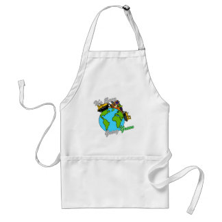 It's Easy Going Green Clean the Planet 2 Adult Apron