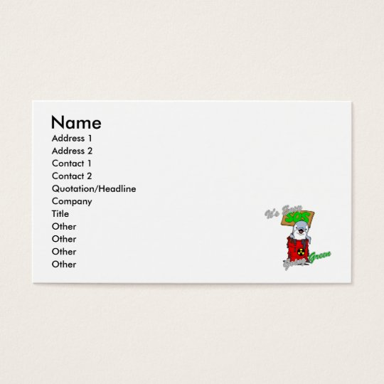 It's Easy Going Green Clean Water 2 Business Card