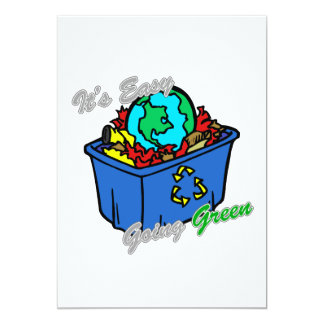 It's Easy Going Green Earth's Puzzle 2 Card