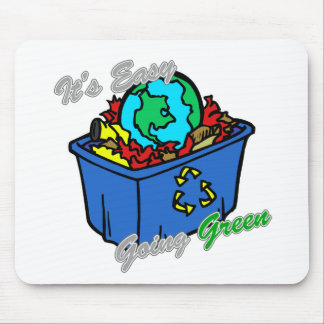 It's Easy Going Green Earth's Puzzle 2 Mouse Pad