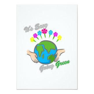 It's Easy Going Green Flowery Globe 2 Card