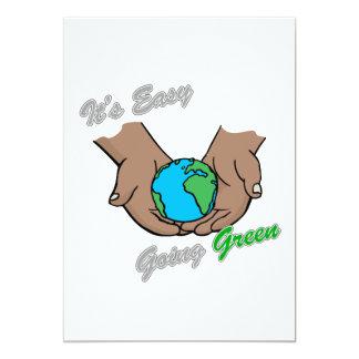 It's Easy Going Green Hands Dark 2 Card