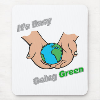 It's Easy Going Green Hands Light Mouse Pad
