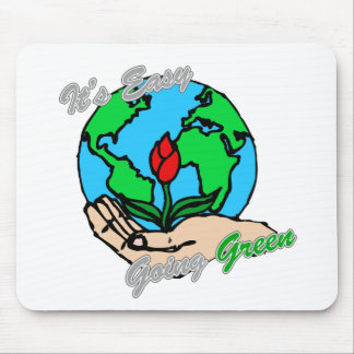 It's Easy Going Green Planet 2 Mouse Pad