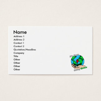 It's Easy Going Green Planet Business Card