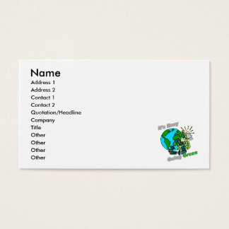 It's Easy Going Green Recycle Business Card