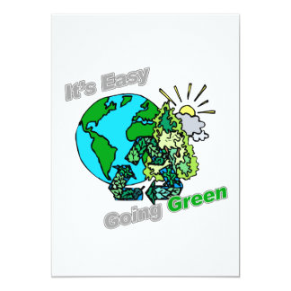 It's Easy Going Green Recycle Card