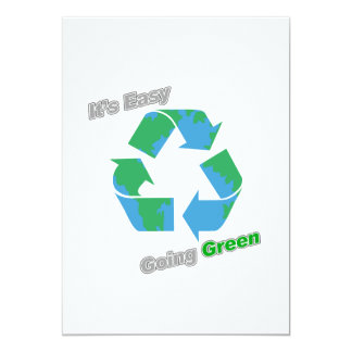 It's Easy Going Green Recycle Symbol Card