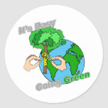 It's Easy Going Green Remember the trees Round Sticker