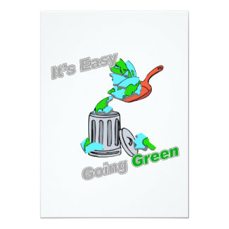 It's Easy Going Green Trashed Planet Card