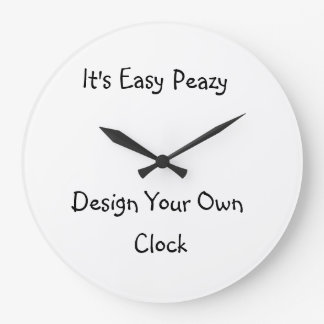 Make My Own Photos Wall Clocks | Zazzle