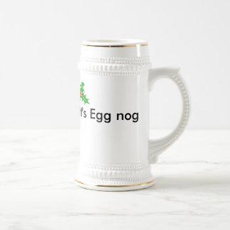 It's Egg nog Beer Stein