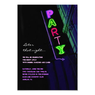 IT'S ELECTRIC!  NEON SIGN Sweet Sixteen Reply Card Personalized Invite
