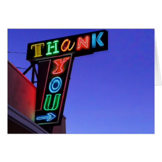 IT'S ELECTRIC!  NEON SIGN Thank You Card