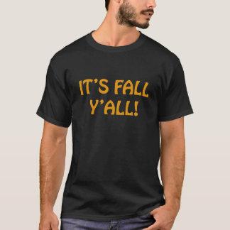 IT'S FALL Y'ALL Seasonal T-shirt Black and Orange