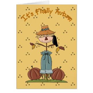 Its Finally Autumn Card