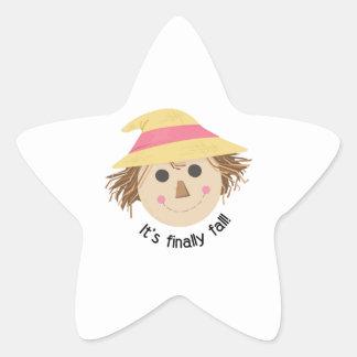 Its Finally Fall Star Stickers