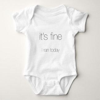 It's Fine, I Ran Today - Black Letters T-shirt