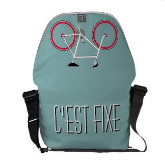 """""""It's Fixed"""" - Custom Cyclists Shoulder Bag Messenger Bag"""