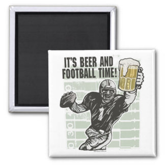 It's Football Time T-shirts and Gifts 2 Inch Square Magnet