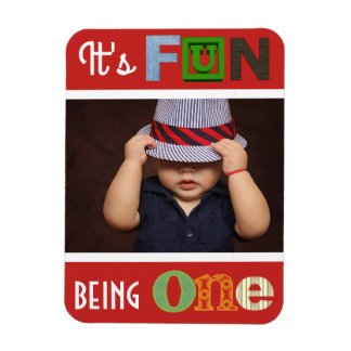 """""""It's Fun Being One"""" Photo Magnet"""