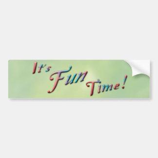 It's FUN Time Bumper Sticker