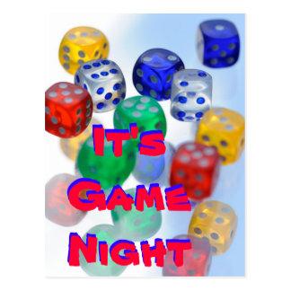 It's Game Night Postcard