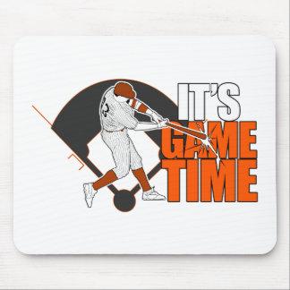 It's Game Time - Baseball (Orange) Mouse Pad