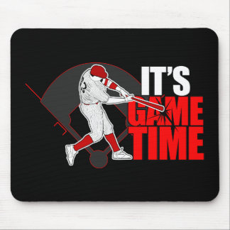 It's Game Time - Baseball (Red) Mouse Pads