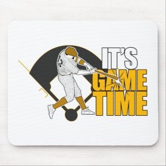 It's Game Time - Baseball (Yellow) Mouse Pad