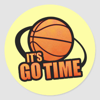 Its Go Time Basketball Sticker