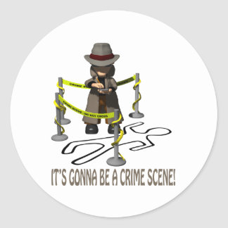 It's Gonna Be A Crime Scene Classic Round Sticker