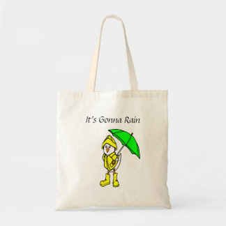 It's Gonna Rain Rainy Duck Tote Bag