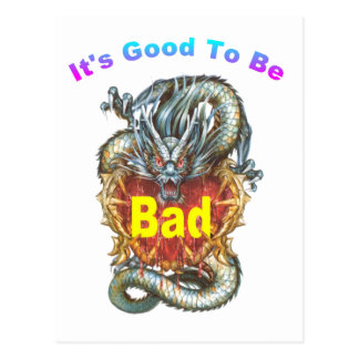 it's good to be bad postcard