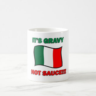It's Gravy not sauce funny Italian Italy pizza tom Coffee Mug