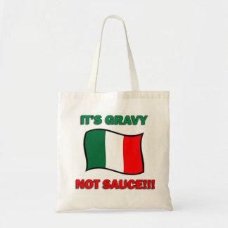 It's Gravy not sauce funny Italian Italy pizza tom Tote Bag