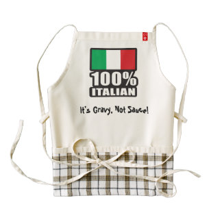 It's Gravy Not Sauce Zazzle HEART Apron