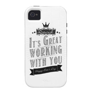 It's Great working with you, Happy Boss's Day iPhone 4/4S Funda