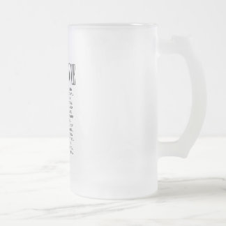 It's Greek To Me Frosted Beer Glass Frosted Glass Beer Mug