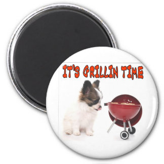 IT'S GRILLIN TIME 2 INCH ROUND MAGNET